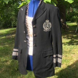 Karen Kane black 3/4 military suit jacket size 4